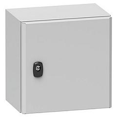 NSYS3D4420P Wandschrank Spacial S3D Volltür mit Montageplatte H400xB400xT200